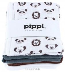 Pippi 8-Pak Stofbleer - Hvid/Brun/Grå
