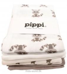 Pippi 8-pak Stofbleer - Hvid/Sand m. Stjerner og Dyr