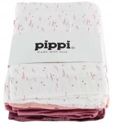 Pippi Stofbleer - 8-pak - Hvid/Rosa/Lilla m. Print