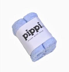 Pippi Vaskeklud -Ensfv. 4-Pak - Lyseblå