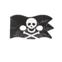 Pirat maske med pailletter fra Rice