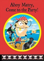 Pirater I - Invitation & kuvert - 6 stk.