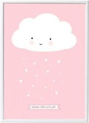 Plakat fra A Little Lovely Company - Little Pink Cloud (50x70)