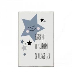 Plakat - Stjerne dreng, 29,7 x 21 cm - A4