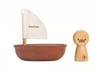 Plantoys - Sejlbåd med hvalros