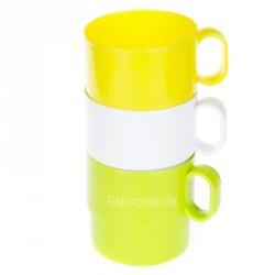 Plast krus m. hank - Stable kop - Blossom