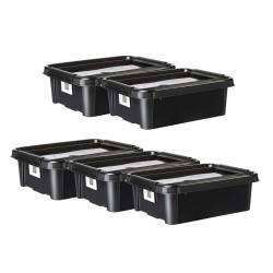 Plast Team opbevaringskasser - 21 liter - Sort