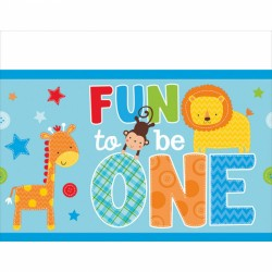 Plastdug - 1 års fødselsdag - Fun to be One - Dreng