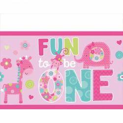 Plastdug - 1 års fødselsdag - Fun to be One - Pige