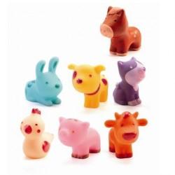 Plastik dyr fra Djeco - Bondegårsdyr