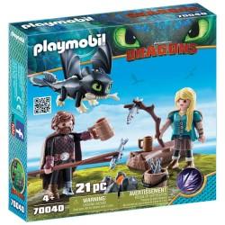 Playmobil Hikke og Astrid med Baby-drage