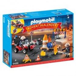 Playmobil julekalender - Redningsaktion ved brand på byggepladsen