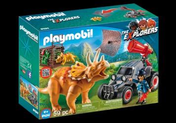 PLAYMOBIL Offroader med dinosaurernet - 9434