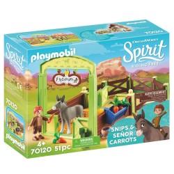 Playmobil Snips og Señor Carrots med hestestald