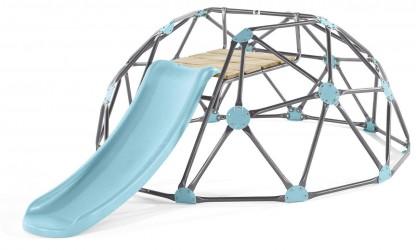 Plum stor Metal Dome Klatrestativ med rutsjebane
