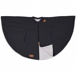 Poncho tæppe fra Voksi - Dark Grey Star (1-4 år)