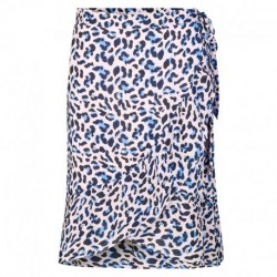 POOL BLUE COMBI LEOPARD LR-EMEL 4 skirt - 100237 fra Levete Room -