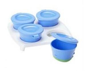 Pop Up Freezer Pots fra Tommee Tippee (4x60ml) - Blå
