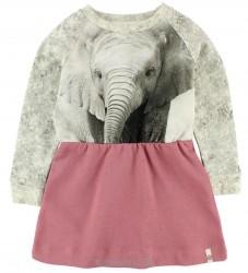Popupshop Kjole - Robbie - Elefant/Rosa