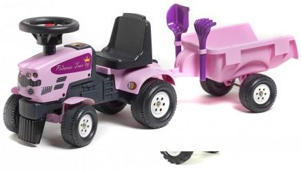 Prinsesse Gå-Traktor med Trailer
