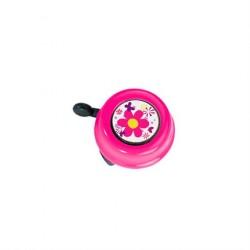 PUKY Ringeklokke til løbecykel Pink Blomster motiv