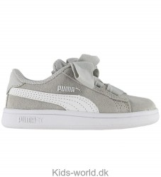 Puma Sko - Smash v2 Ribbon Infant - Gray Violet/Puma White
