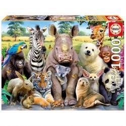 Puslespil 1000 brikker Klassebillede Dyr fra Educa