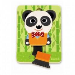 Puslespil 3 lag Panda fra Djeco