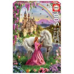 Puslespil 500 brikker Enhjørning og prinsessen fra slottet fra Educa