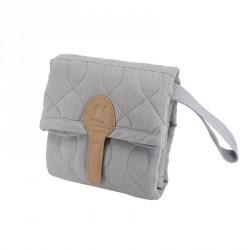 pusleunderlag fra Sebra,Quiltet, elephant grey