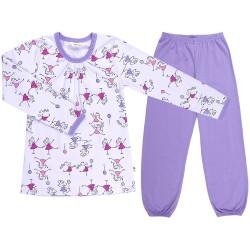 Pyjamas m. glimmer fra Joha - Girls