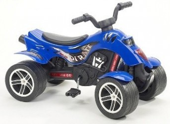 Quad Pirate ATV m/pedaler, Blå