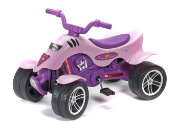 Quad Prinsesse ATV m/pedaler