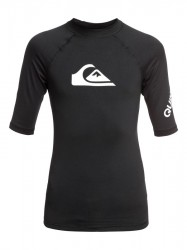 Quiksilver UPF 50+ badetrøje - All Time - Short Sleeve Rash Vest black