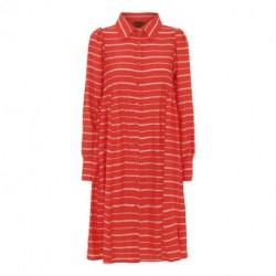 Red Striped Aida Shirt Dress 20300 fra Hunkøn