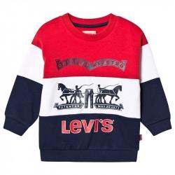 Red, White and Navy Oversize Original Logo Sweatshirt3 years