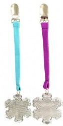 Refleksbrik m. clips fra Addstroller - Snefnug - Farvet bånd (1 stk)