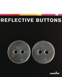 Refleksknapper fra SeeMe - Black Dots 40mm (2 stk)