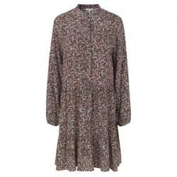 Rejina Green Leaf Print Marranie Dress - 46927265 fra mbyM