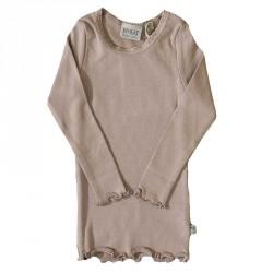 Rib T-Shirt Lace LS 3150 - Fawn 4151-007 fra Wheat
