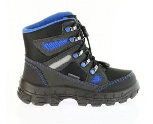 Richter 7921 vintestøvler, sort m/blå