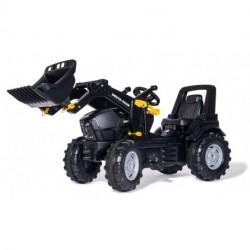 RollyFarmtrac Deutz-Fahr Warrior Premium Sort Traktor 3-8 år med frontlæsser