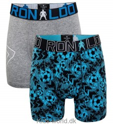 Ronaldo Boxershorts - 2-pak - Grå/Blå m. Print