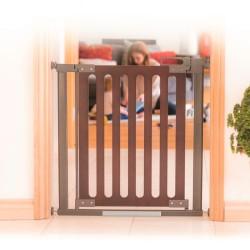 Safe & Care Co sikkerhedsgitter - Wood Pressure Hardware - Brun