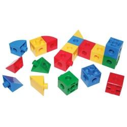 Samlesæt, kuber og trekanter 360 dele