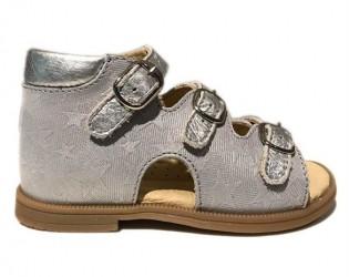 Sandal 'ala BabyBotte', grå/sølv