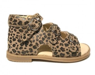 Sandal 'ala BabyBotte', leopard