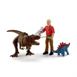 Schleich Dino Tyrannosaurus Rex Angreb sæt