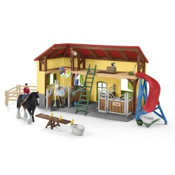 Schleich hestestald - Farm World