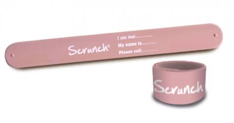 Scrunch-Armbånd Rosa
